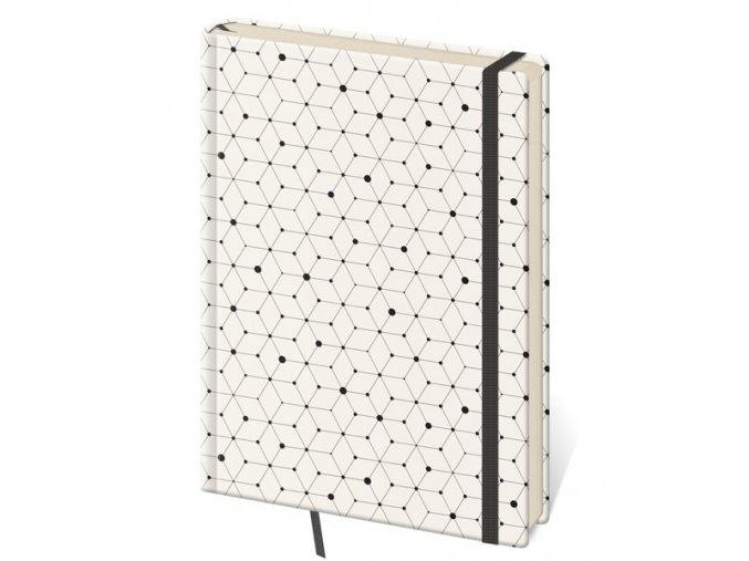 Tečkovaný zápisník Vario L/A5  design 5 (čtverečkovaný)