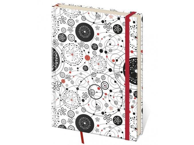 Tečkovaný zápisník Vario kapesní (S)  design 9 (čtverečkovaný)