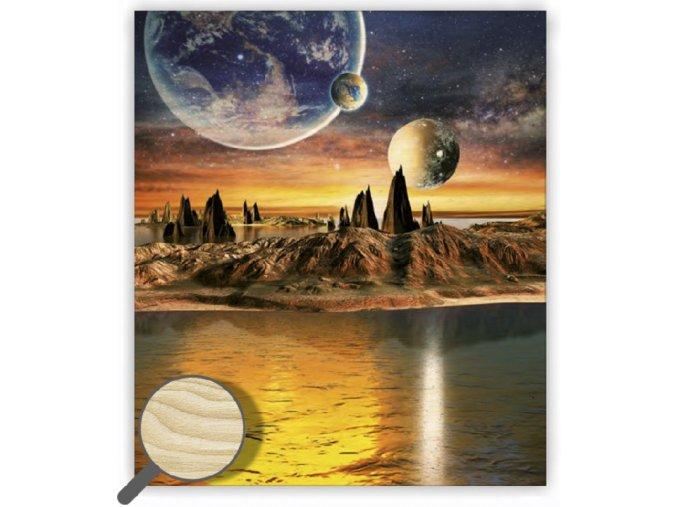 Dřevěný obraz abstrakce Cosmic s dopravou zdarma