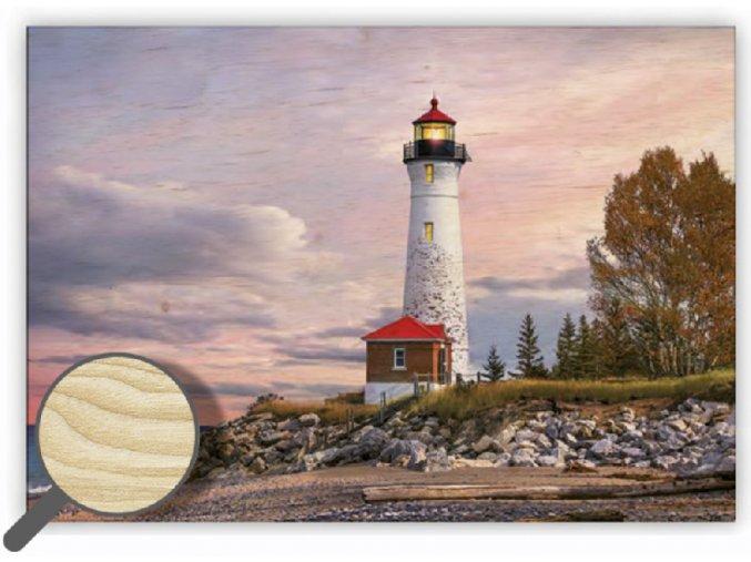 Dřevěný obraz na stěnu Lighthouse (maják), krásný obraz do obýváku