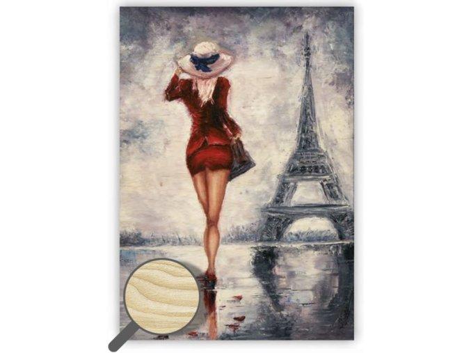 Dřevěný obraz na stěnu Paris, krásný dřevěný obraz s motivem Paříže