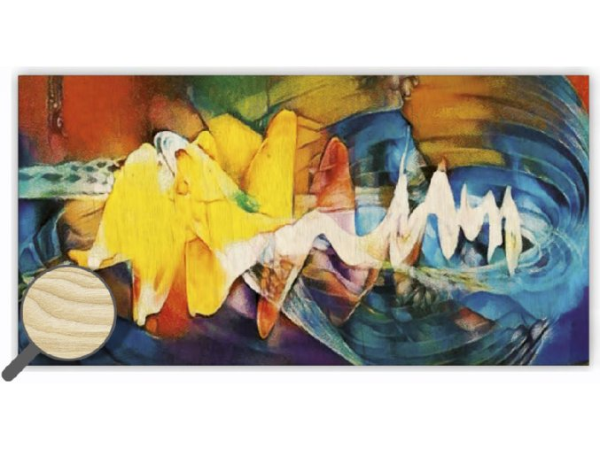 Dřevěný abstraktní obraz s dopravou zdarma