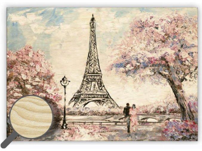Dřevěný obraz na stěnu Eiffel Tower