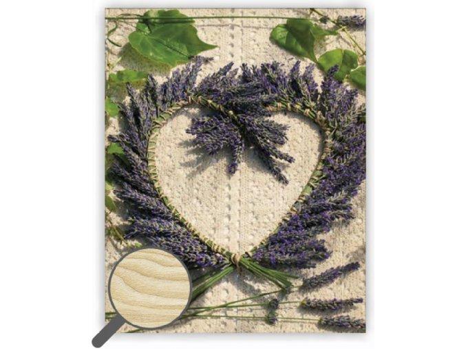 Dřevěný obraz na zeď Heart se srdcem, krásný a originání dřevěný dárek za 290 Kč