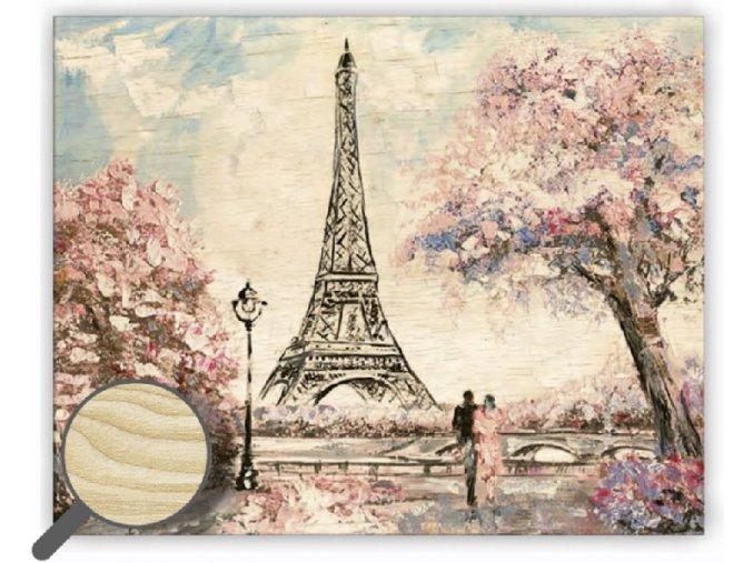 DŘEVĚNÝ OBRAZ Eiffel, krásný obraz na stěnu vhodný jako dárek