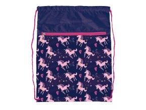Sáček na cvičky Pink Unicorn