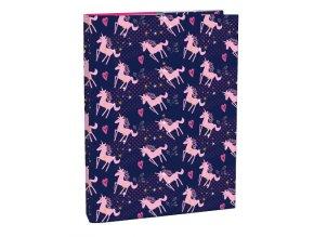 Box na sešity s klopou A4 Pink Unicorn