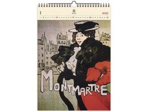 Luxusní dřevěný obrazový kalendář Montmartre