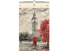 Luxusní dřevěný obrazový kalendář Big Ben II.