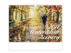 Kalendář Watercolour Scenery