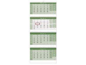 Čtyřměsíční kalendář Green na recyklovaném papíře