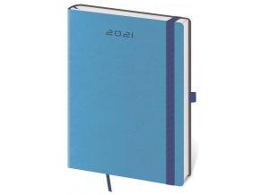 Denní diář A5 Flexies modrý s poutkem