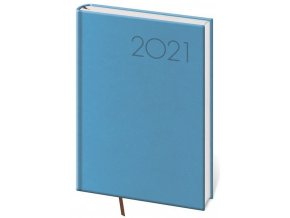 Denní diář A5 Print světle modrý