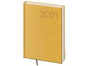 Denní diář A5 Print žlutý