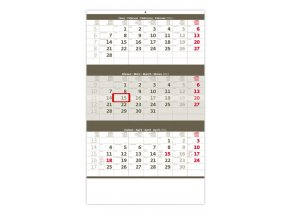 Tříměsíční kalendář šedý