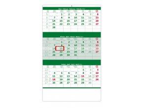 Tříměsíční kalendář zelený
