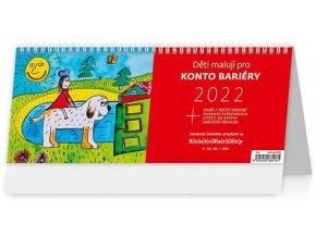 Charitativní kalendář Děti malují pro Konto Bariéry