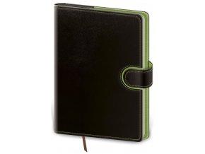 Denní diář B6 Flip - černo/zelená