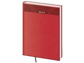 Denní diář A5 Print - červená