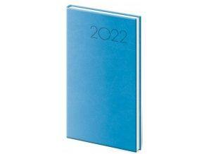 Týdenní diář kapesní Print - světle modrá