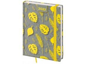 Denní diář A5 Vario - Yellow s gumičkou