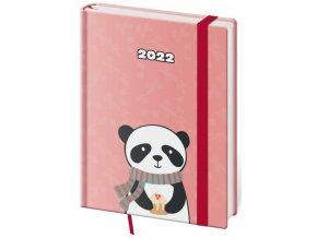 Týdenní diář B6 Vario - Panda s gumičkou