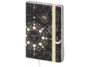 Týdenní diář kapesní Vario - Cosmos s gumičkou