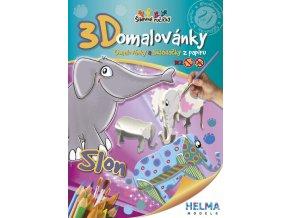 3D omalovánky Slon