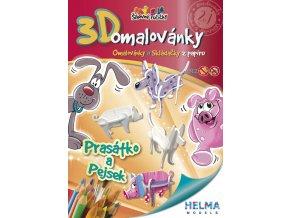 3D omalovánky Prase a pes