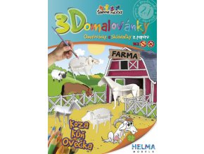 3D omalovánky Farma - ovce, koza a kůň