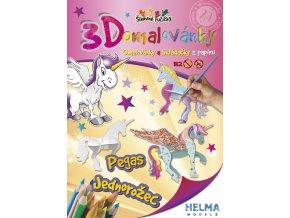 3D omalovánky Jednorožec a Pegas