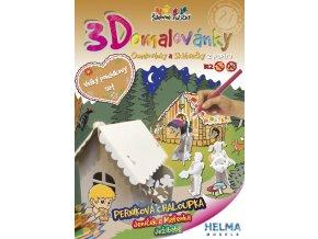3D omalovánky Perníková chaloupka