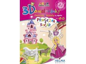3D omalovánky Princezna a kočár