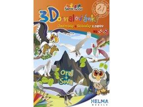 3D omalovánky Orel a sova