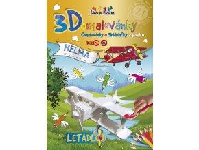 3D omalovánky Letadlo