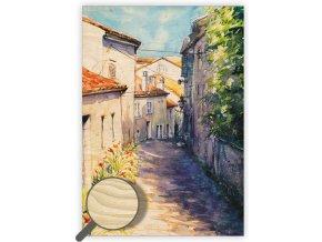 Dřevěný obraz Old Street