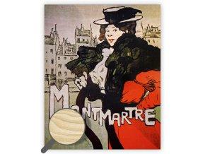 Dřevěný obraz Montmartre