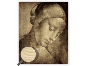 Dřevěný obraz Da Vinci