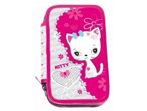 Školní penál dvoupatrový Kitty