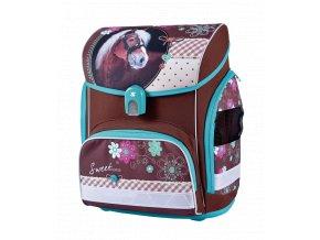 Školní aktovka Sweet Horse (anatomický batoh) s dárkem  + zdarma svačinový box
