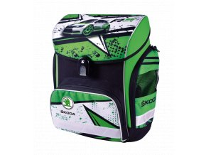Školní aktovka Škoda R5 (anatomický batoh) s dárkem  + zdarma svačinový box