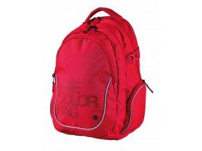 Studentský batoh Teen One Colour červený s dárkem  + dárek dle vlastního výběru