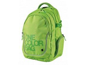 Studentský batoh Teen One Colour zelený s dárkem  + dárek dle vlastního výběru