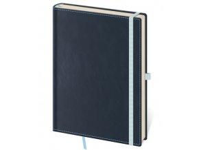 Zápisník s čistým blokem Double Blue L