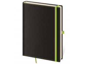 Zápisník s čistým blokem Black Green L/A5