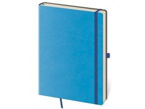 Tečkovaný zápisník Flexies A6 (M) modrý (čtverečkovaný)