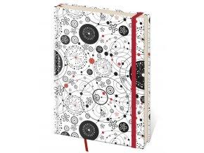 Linkovaný zápisník Vario kapesní (S)  design 9