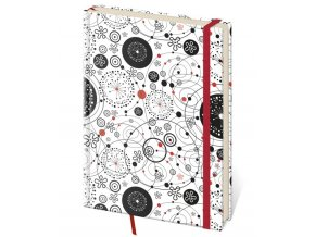 Zápisník Vario S linkovaný design 9