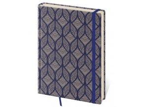 Tečkovaný zápisník Vario kapesní (S)  design 4 (čtverečkovaný)