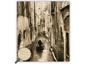 Dřevěný obraz na stěnu Venezia, krásný dřevěný černobílý obraz s dopravou zdarma
